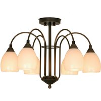 YEAR 1900 stylish six bulb ceiling light