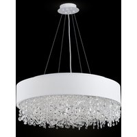 Ornamented Manfred fabric hanging light   60 cm