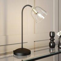 Lucande Anjita table lamp  glass lampshade