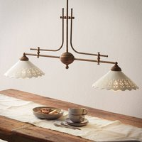 Hanging light Pizzo with chain  two bulb