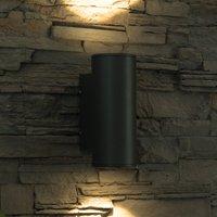 LED-Außenwandleuchte Doble, rund, Up-and-Down