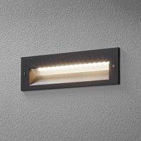 BEGA 33054 LED wall light 3 000K graphite 26 cm