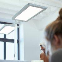 Yara double LED floor lamp CCT  BT  LTX  silver
