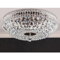 Sherata Crystal Ceiling Light Chrome Plated 45 cm