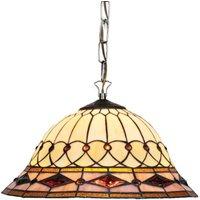 Hanging light Cassandra  Tiffany style  2 bulb