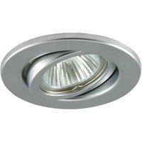 Bright low volt recessed lamp SOKE matt silver