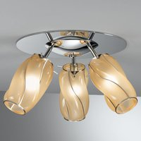 Three bulb Orione ceiling lamp