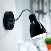 Flexible wall lamp CYCLONE  black