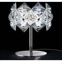Prisma table lamp with a sparkling lampshade