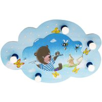 Bear with Fishing Rod ceiling light  cloud  blue