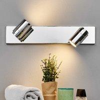 Dejan bathroom wall light in chrome  two bulbs