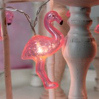 Great LED party string lights Flamingo  10 bulbs