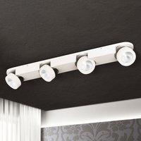 Four-bulb LED ceiling spotlight Meno, dimmable