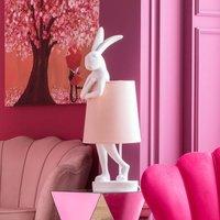 KARE Animal Rabbit table lamp white pink