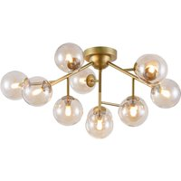Dallas ceiling light with 12 glass spheres  gold