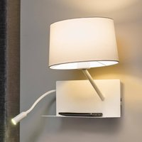 Practical Handy wall light with an LED reading arm