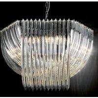 Opulent crystal hanging light Woolball 85 cm dia