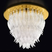 Petali ceiling light with Murano glass 56 cm gold