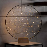 LED decorative light metal silhouette ring indoors