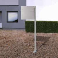 Letterman IV free standing letterbox silver