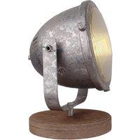 Woody table lamp  galvanised