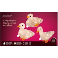 Duck LED figure made of acrylic  set of 3  battery