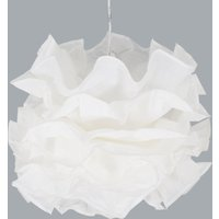 Fiona pendant light with ruched lampshade