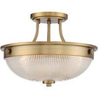 Ceiling light Mantle glass diffuser antique brass
