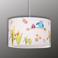 Birds cheerful children s hanging light