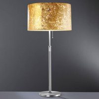 Loop   table lamp with gold leaf
