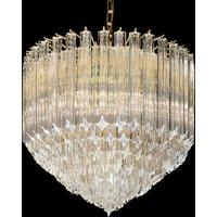 Large crystal light Pigna  24 carat gold plated