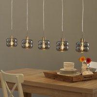 Villeroy   Boch Havanna hanging lamp satin 5 bulb