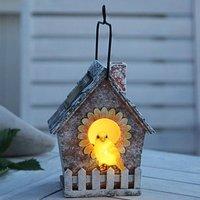 LED solar lamp Bird House