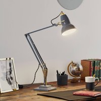 Anglepoise Original 1227 brass table lamp  grey