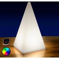 Image of Akkubetriebene RGB-LED-Pyramide, 36 cm