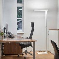 Logan white LED office floor lamp  dimmer 4 000 K