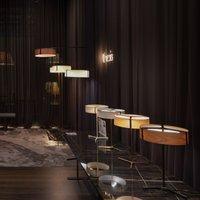 LZF Thesis LED table lamp matt black cherry wood