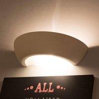 Bowl ceramic wall lamp up down  white