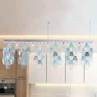 Glace hanging light  Murano glass lampshades