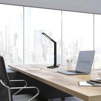 Aluminor Sandra LED table lamp with watch  black
