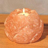 Lotus Blossom tea light holder salt crystal