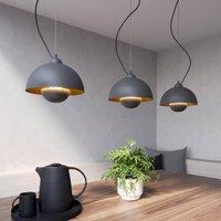 Gretja pendant light  3 bulb  black and gold