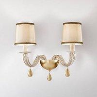 ANOUK two bulb wall light