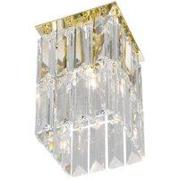 KOLARZ Prisma   golden crystal ceiling light