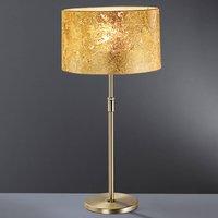 Loop gold leaf table lamp 55   75 cm high
