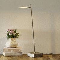 Block LED table lamp  dimmable  steel coloured