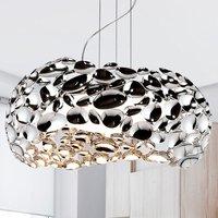 Narisa LED hanging light 47 cm glossy chrome