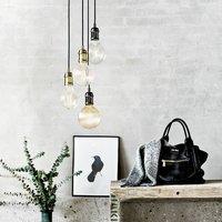 Avra   minimalist hanging lamp in brass