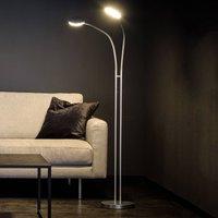 Holtk tter Flex Twin LED floor lamp aluminium grey