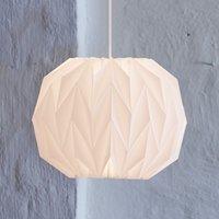 LE KLINT 157 medium   hand pleated hanging light